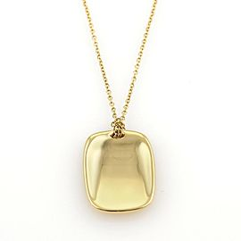 Tiffany & Co. Elsa Peretti 18K Yellow Gold Concave Rectangular Disc Pendant Necklace