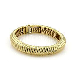 Tiffany & Co. Cordis 18K Yellow Gold Grooved Design Bangle Bracelet