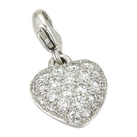 Cartier 18K White Gold and 0.40ct. Diamond Heart Pendant