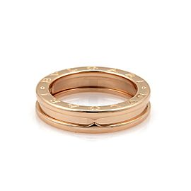 Bulgari B Zero-1 18K Rose Gold Single Band Ring Size 7.5