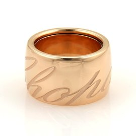 Chopard Chopardissimo 18K Rose Gold Dome Band Ring Size 6.5