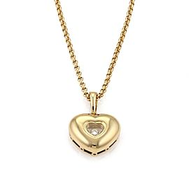 Chopard Happy Diamond 18K Yellow Gold Heart Pendant Necklace