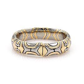 Bulgari 18K Yellow Gold and Stainless Steel Parentesi Bracelet
