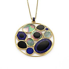 Ippolita Rock Candy 18k Yellow Gold Mother Of Pearl Onyx Lapis Necklace