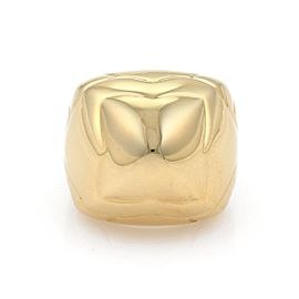 Bulgari Pyramide 18K Yellow Gold Floral Design Ring Size 6.25