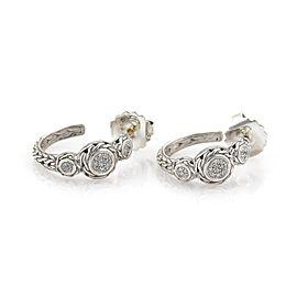 John Hardy Diamond Sterling Silver Diamond Earrings