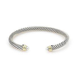David Yurman 14K Yellow Gold, Sterling Silver Cultured Pearl Bracelet