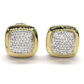 David Yurman Albion 18K Yellow Gold, Sterling Silver Diamond Earrings