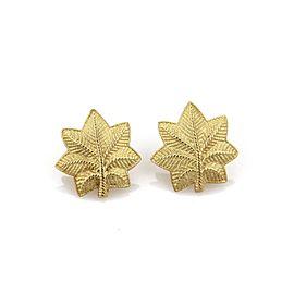 Tiffany & Co. 18K Yellow Gold Earrings Leaf Stud Earrings