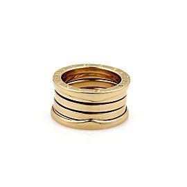 Bulgari Bvlgari B Zero-1 Wide 18K Yellow Gold Ring Size 5