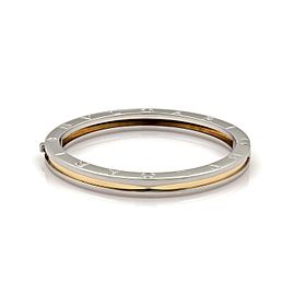 Bulgari 18K Yellow Gold, Stainless Steel Bracelet
