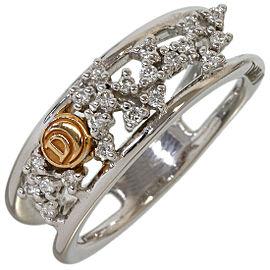 Damiani Diamonds Design Ring in 18K White Gold US6 EU51