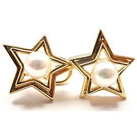 TIFFANY & CO 18K YELLOW GOLD PEARL EARRINGS