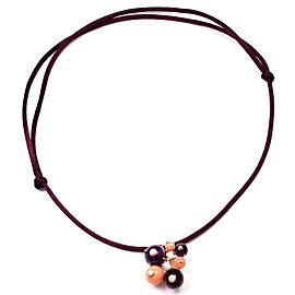 Cartier Délices de Goa 18k Gold Diamond Coral Amethyst Pendant Necklace
