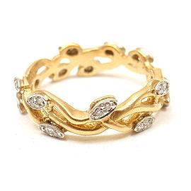 Vera Wang Fine Jewelry 18k Yellow Gold Diamond Vine Motif Band Ring