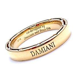 Authentic Damiani Brad Pitt 18k Yellow Gold 20 Diamond 4mm Band Ring Sz 8.5
