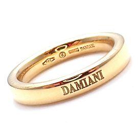 Damiani 18k Yellow Gold 3.5mm Band Ring Sz 6.5
