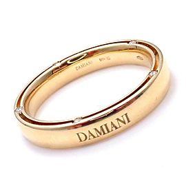 Damiani Brad Pitt 18k Yellow Gold 10 Diamond 4mm Band Ring Sz 10
