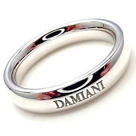 Damiani 18k White Gold 4.5mm Band Ring Sz 8
