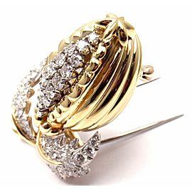 Tiffany & Co Schlumberger 18k Gold Plat Diamond Acorn Pin