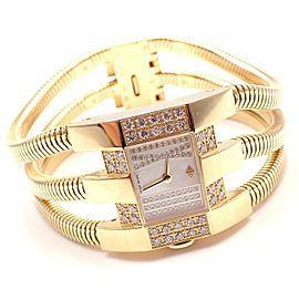 Van Cleef & Arpels 18k Gold Diamond Liane Collection Bracelet Watch
