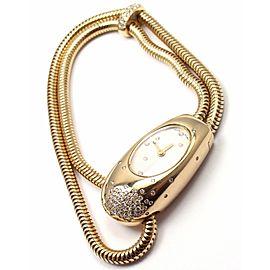 Van Cleef & Arpels 18k Yellow Gold Cadenas Serti Diamond Ladies Watch