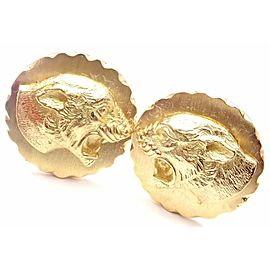 Van Cleef & Arpels 18k Yellow Gold Panther Panthere Cufflinks