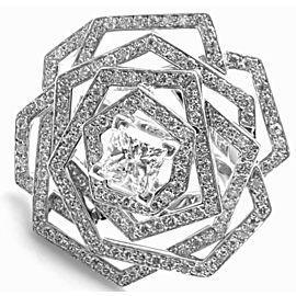 Chanel 1932 Flower 18k White Gold Diamond Ring