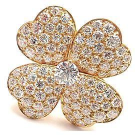 Van Cleef & Arpels Cosmos 18k Yellow Gold Diamond Large Model Ring