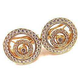 Chopard 18k Yellow Gold Happy Spirit Diamond Earrings