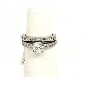 Natalie K 14k White Gold Mounting 55 pts Diamond Accent Wedding Band & Ring