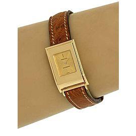 Tiffany & Co. Schlumberger 18k Yellow Gold Ladies Wrist Watch Original Band Box