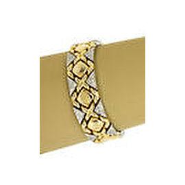 Elegant 1.75ct Diamonds & 14k Two Tone Gold Fancy Design Bracelet
