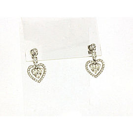 Gregg Ruth 1.74ct Diamond 18k White Gold Hearts Drop Dangle Earrings Rt:$6420.00