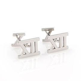 Tiffany & Co. Italy 18K White Gold ATLAS Designer Cufflinks