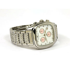 David Yurman Sterling Silver & Steel Chronograph Wrist Watch