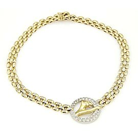 Stunning 18k Two Tone Gold 2.50ctw Diamond Panther Necklace