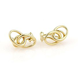 Tiffany & Co. Peretti 18K Yellow Gold Double Loop Designer Earrings