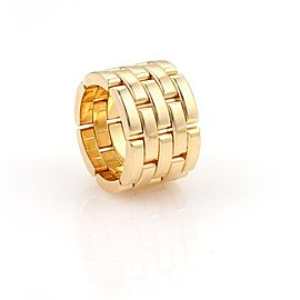Cartier Maillon Panthere 18k Yellow Gold 5 Rows 13mm Wide Band Ring Size 50