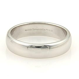 Tiffany & Co. Platinum 6mm Wide Plain Wedding Band Ring Size11.75