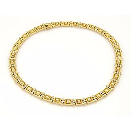 Designer Mapamenos Natepas 1.30ct Diamond 18k YGold Greek Fancy Necklace