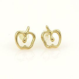 Tiffany & Co. Elsa Peretti Mini Apple 18k Yellow Gold Stud Earrings