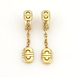 Bulgari Bulgari Parentesi 18k Yellow Gold Drop Dangle Earrings