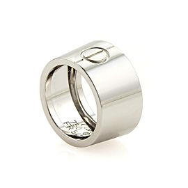 Cartier High Love 18k White Gold 10mm Wide Band Ring EU 45 - US 3.25 Certificate