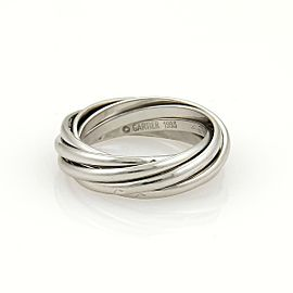 Cartier Platinum Trinity 7 Rolling Bands Ring 1.6mm Size EU 49-US 5