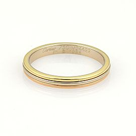 Cartier 18k Tri-Color Gold 3 Wire Stack Band Ring Size 9.5