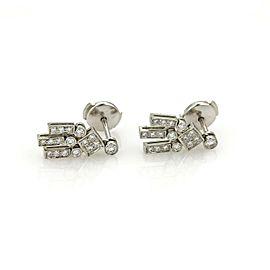 Tiffany & Co. Diamond Platinum Fancy Drop Dangle Earrings