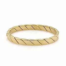 Tiffany & Co. 18k Yellow Gold Oval Hinged 8mm Wide Bangle Bracelet