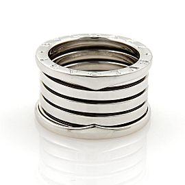 Bvlgari Bulgari B Zero-1 18k White Gold 13mm Band Ring Size EU 49-US 4.5