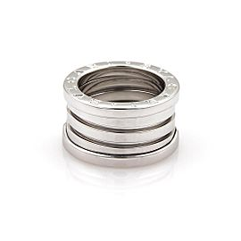 Bulgari Bulgari B Zero-1 18k White Gold 13mm Band Ring Size 5